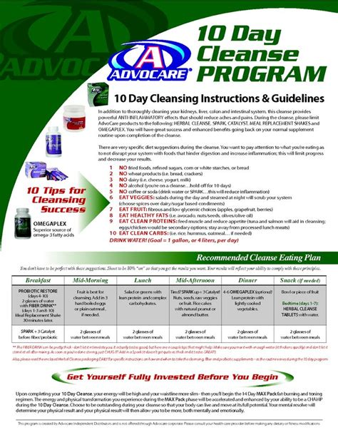 24 Day Detox Advocare by Advocare Cleanse Guidelines Health And Fitness