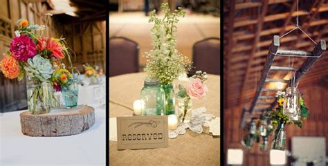 country style centerpieces f m light and sons country and western wedding style