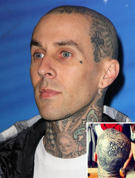 travis barker head tattoo guess whose ink redible tattoos photo 2 tmz