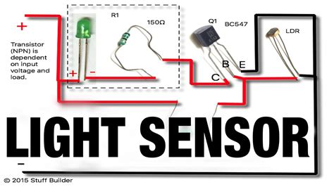 light sensor circuit using ldr turns on when dark how to build the simplest light sensor