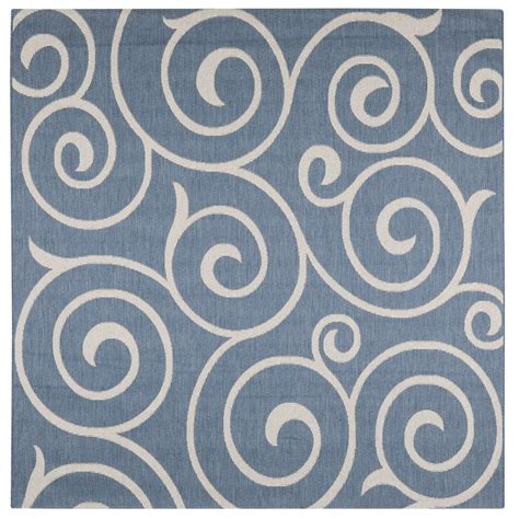 6 X 8 Outdoor Rug Home Decorators Collection Whirl Blue Chagne 8 Ft 6 In X 8 Ft 6 In Square Indoor Outdoor