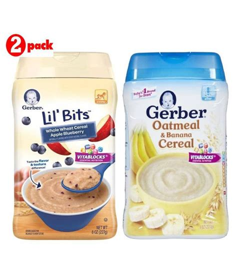 Gerber Oatmeal Banana Cereal Sereal Bubur Bayi Instant gerber ww apple blueberry oatmeal banana infant cereal