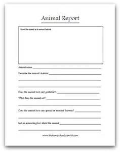 Report Writing For Students Primary by Animal Report Printable