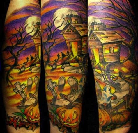 halloween tattoo sleeve this is a awesome inspired sleeve