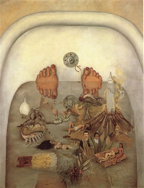 bush bathtub painting what the water gave me 1938 frida kahlo wikiart org
