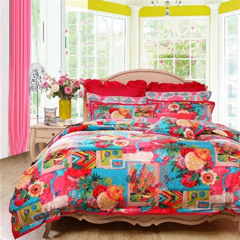 girls full size comforters colorful bohemian indian tribal style tropical vintage