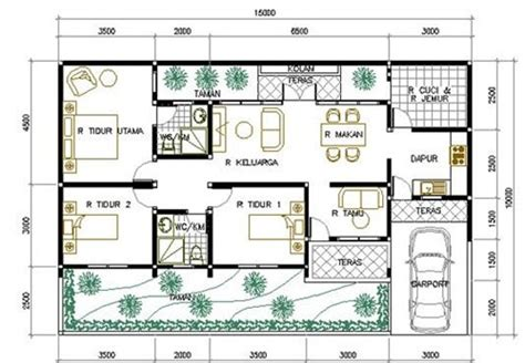 layout rumah 8 x 10 related keywords suggestions for sketsa rumah