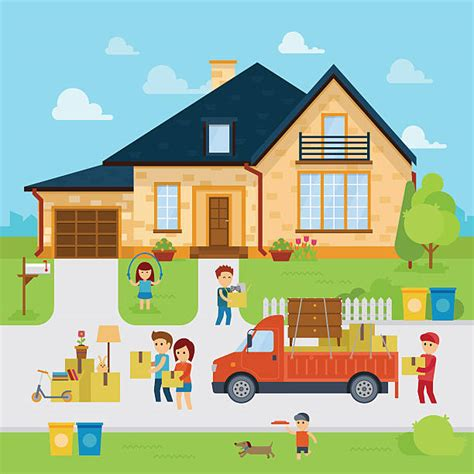 moving houses clipart moving house