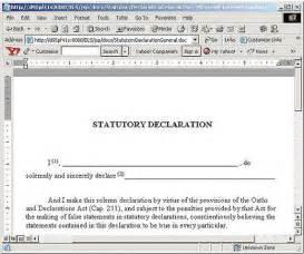 statutory declaration template financial risk template like success