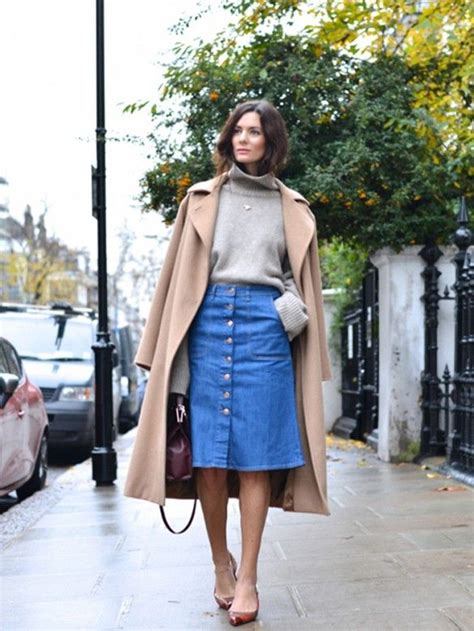 what to wear with button front skirts aelida