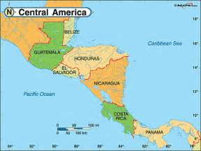 map of central america outravelling maps guide