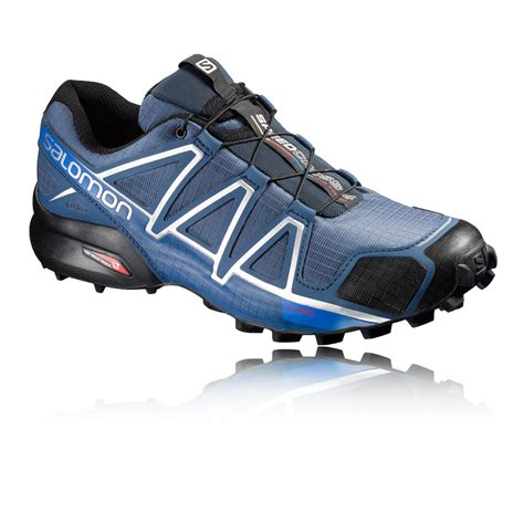 water resistant trail running shoes salomon speedcross 4 mens blue water resistant trail