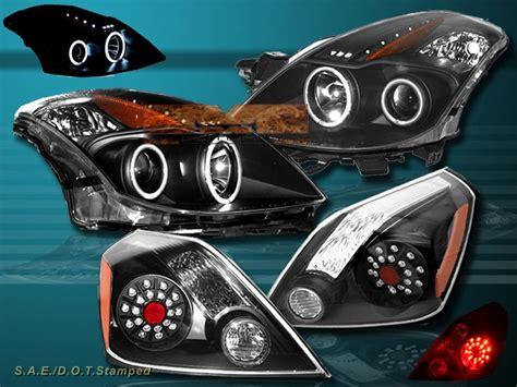 2008 Nissan Altima Headlights by 2008 09 Nissan Altima Ccfl Halo Led Projector Headlights