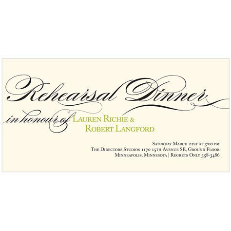 bella elegant script rehearsal dinner invitation the flowing calligraphy elegant rehearsal dinner invitations