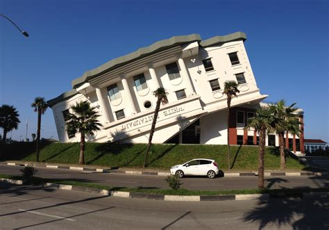 house builder file building that looks like upside down white house