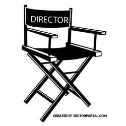 regisseur stuhl regisseure stuhl vektor clipart bei vectorportal