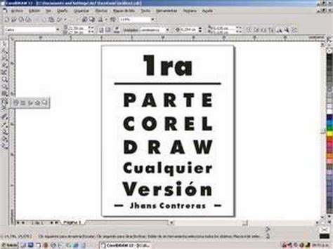 tutorial corel draw x6 para principiantes 1ra parte corel draw 2de2 youtube