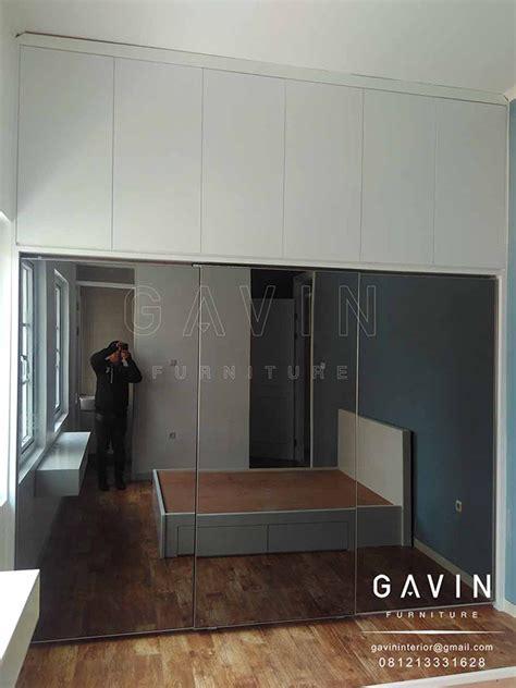 Cermin Grey lemari sliding 3 pintu cermin kitchen set minimalis