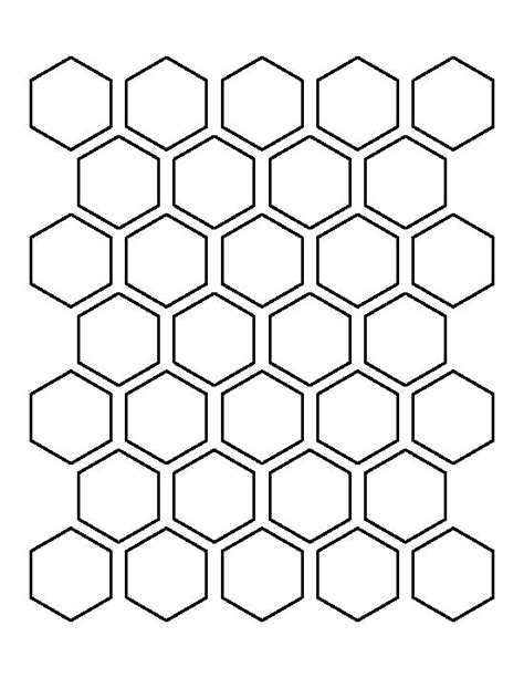 pattern templates hexagons hexagon pattern and templates on