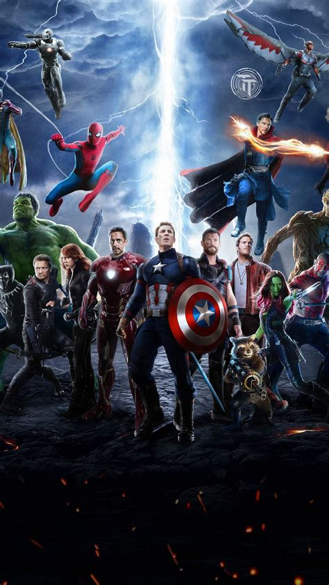 android wallpaper avengers infinity war characters