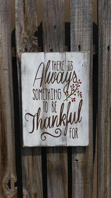 Signs And Plaques Home Decor by There Is Always Something To Be Thankful For Pallet Sign