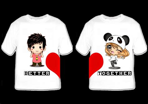 T Shirt Couples Designs The Gallery For Gt Shirts Design
