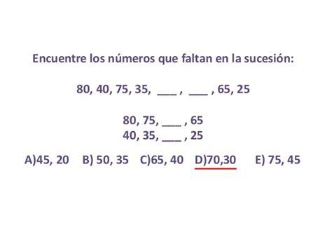 preguntas de habilidad matematica comipems habilidad matem 225 tica sucesiones num 233 ricas