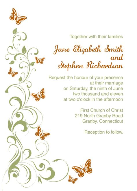blank wedding invitation kits template best template