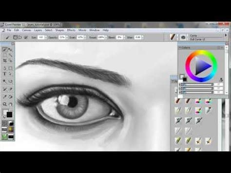 tutorial photoshop wacom how to draw paint eyes a digital painting tutorial