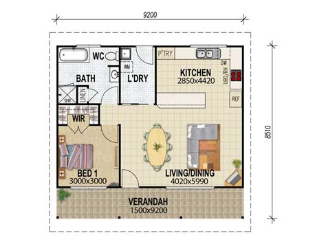 granny house floor plans house plans queensland granny flat plans one bdrm floor