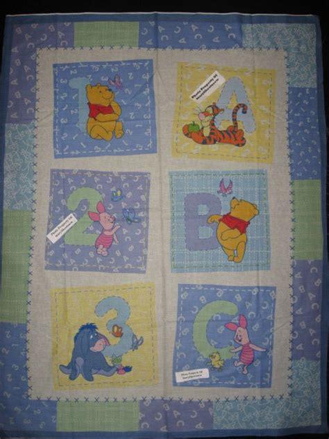 crib quilt fabric panel  sew winnie  pooh tigger