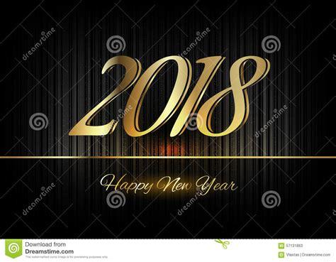 new year happiness symbol gold new year 2018 luxury symbol stock illustration