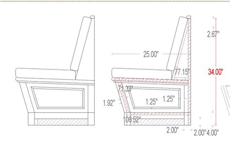 built in bench seating for kitchen plans dimensions built in seating we delivered this built in