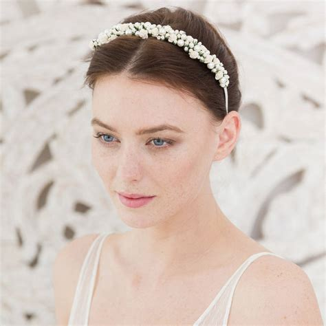 Wedding Hair With Band by Wedding Headband And Pearl By Britten Weddings