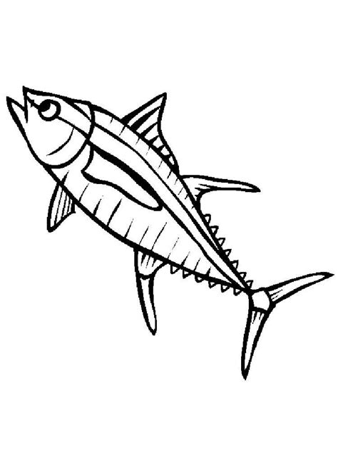 tuna fish coloring pages download and print tuna fish