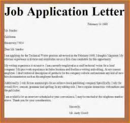Written Cover Letter For Application by 6 Application Letter For Employment Basic
