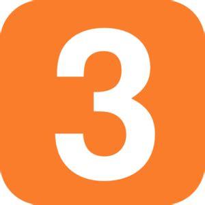Clip Trigonal No1 no 3 in orange rounded square clip at clker vector clip royalty free
