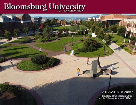 Bloomsburg Academic Calendar Bloomsburg Calendar 2012 2013 By Bloomsburg