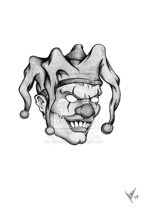 evil jester tattoo designs collection of 25 evil clown faces design
