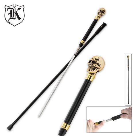 sword walking canes brass skull walking sword budk knives