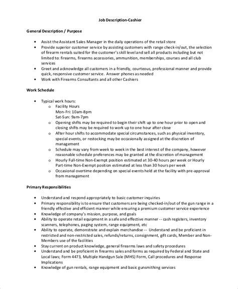 sle retail description 8 exles in word pdf