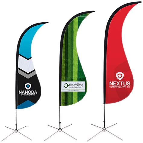 sharkfin banner template flag printing for your brand helloprint