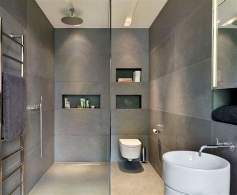 Modern Gray Bathrooms by Slate Grey Tiles Guildford Contemporary Bathroom Bathe