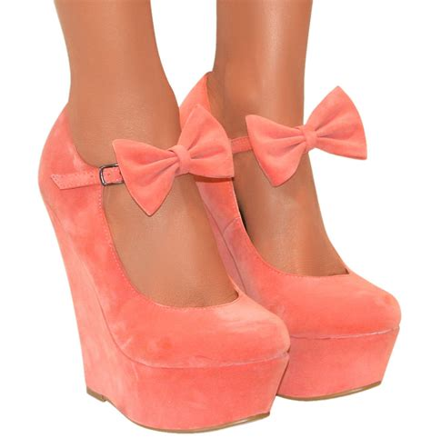Heels Chelsea Bow Sandals by Bow High Wedge Heels Shoe Platform