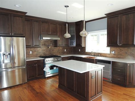 walnut color kitchen cabinets cherry cabinets with walnut stain