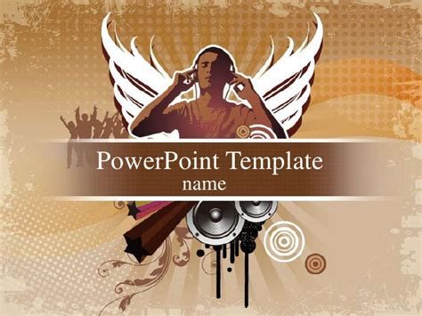 rock powerpoint themes music rock ppt template