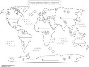 Continents And Oceans Blank Map by 7 Continents And Oceans Blank Map
