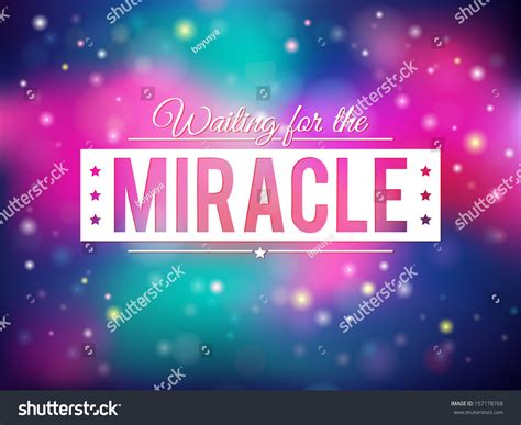 The Miracle Free Beautiful Shiny Miracle Background Eps10 Stock Vector 157178768