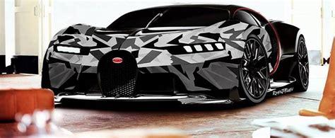 camo bugatti bugatti chiron gets arctic wrap in psychedelic rendering