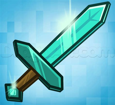 minecraft how to a how to draw the minecraft sword step by step characters pop